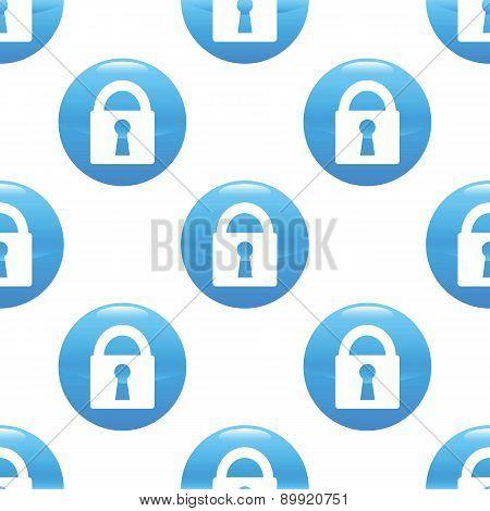 Closed padlock sign pattern