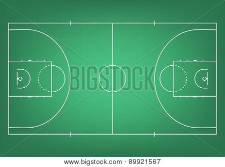 Green Basketball Court - Top View.