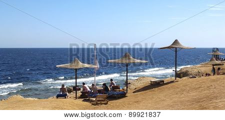 Touirist In Red Sea Coast Line Resort