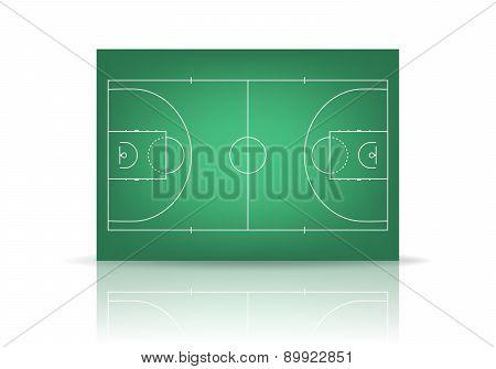 Vector Green Basketball Court