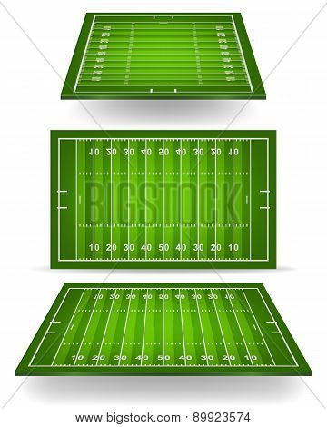 American Football Field With Perspective