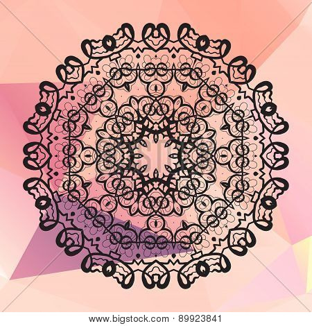 Round mandala. Geometric circle element made in vector. Perfect  cards for any other kind of design,