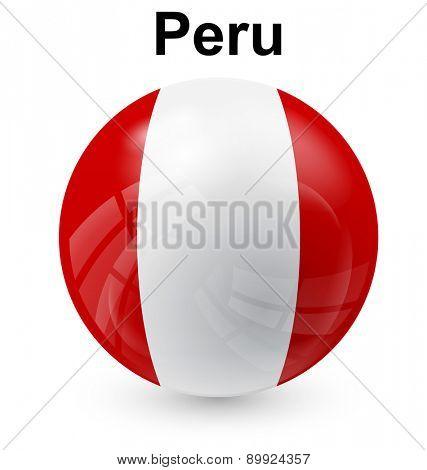 peru official flag, button ball