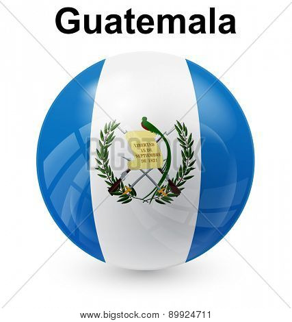 guatemala official flag, button ball