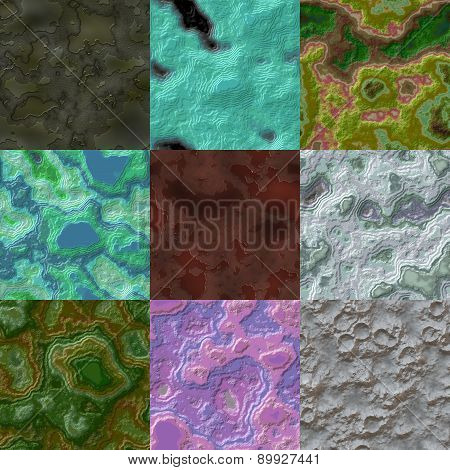 Set of Layered Stone Seamless Generated Texture