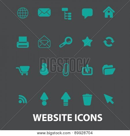 website, internet, page icons, signs. illustrations set, vector