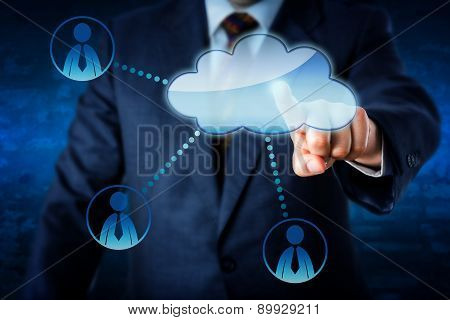 Manager Accessing Human Resources Via The Cloud