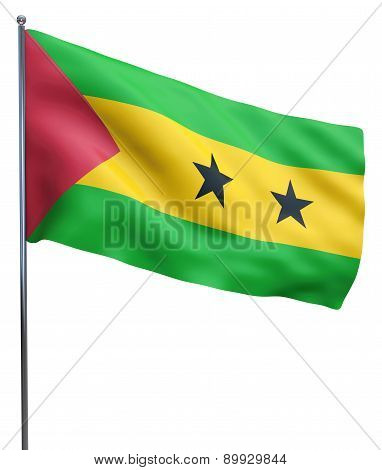 Sao Tome And Principe Flag Image