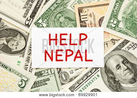 Help Nepal Donation Concept