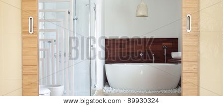 Bathroom With Free Standing Bath
