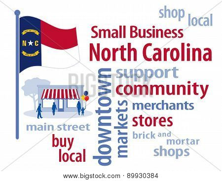 Small Business North Carolina, Tar Heel State Flag