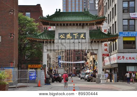 Chinatown Gateway in Boston, Massachusetts