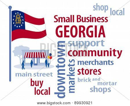 Small Business Georgia, The Peach State Flag