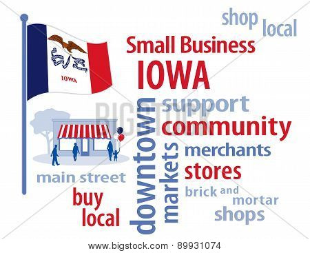Small Business Iowa, The Hawkeye State Flag