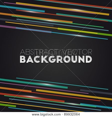 Abstract Background With Colored Straight Lines