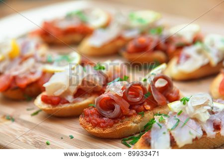 Tapas on Crusty Bread