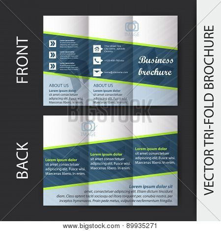 Tri-fold corporate business store brochure