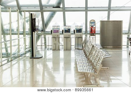 Empty Benches At The Airport