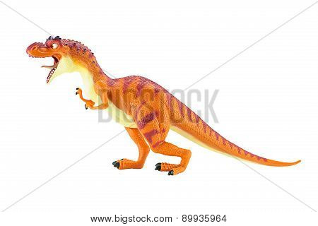 Momma Dino Dinosaurs Rex Figure Toy Isolated On White.