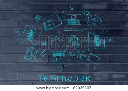 Working With A Team: Laptops And Shared Business Objects