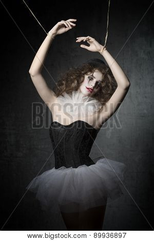 Girl Like Gothic Puppet Dancer