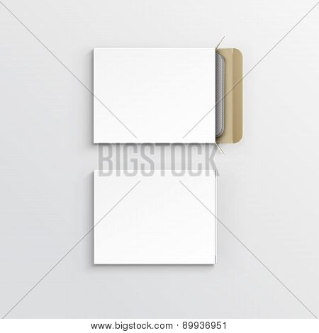 Vector Blank Package Box for Blister of Pills