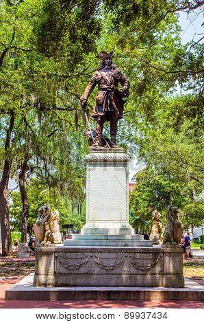 Memorial In Savannah For General Oglethorpe