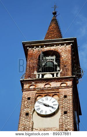Carbonate Old Abstract In  Italy    Tower Bell Sunny Day