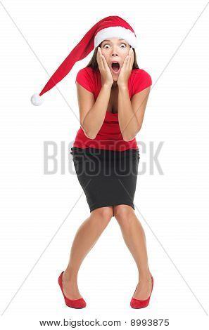 Christmas Woman Shocked
