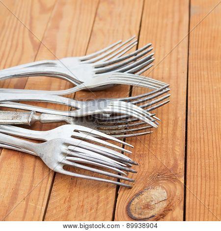 Old Aluminum Forks