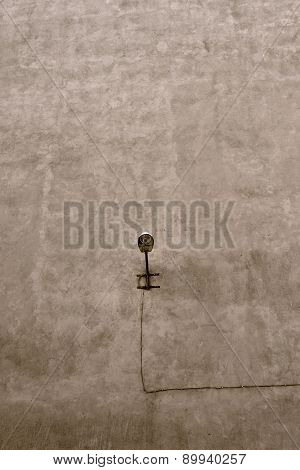 Street Lamp On The Wall Without Windows