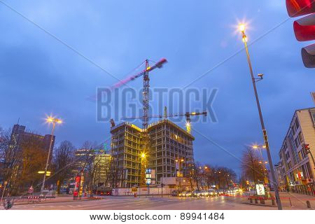 Construction Site At The Reeperbahn In Hamburg
