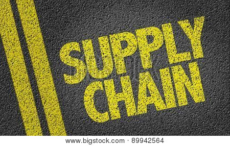 Supply Chain written on the road