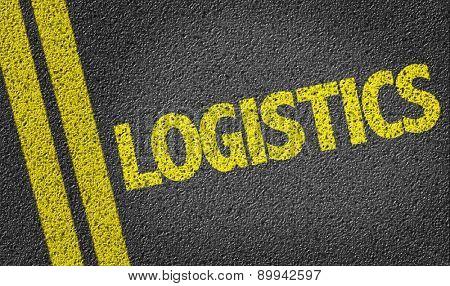 Logistics written on the road