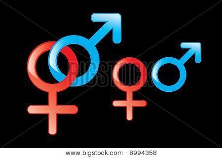 Símbolos masculinos y femeninos