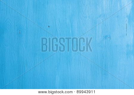 Old Blue Painted Wood Texture