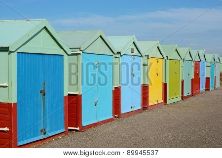 Beach Huts At Hove, Brighton, England