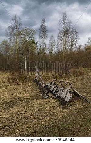 Remains Of Wooden Structures