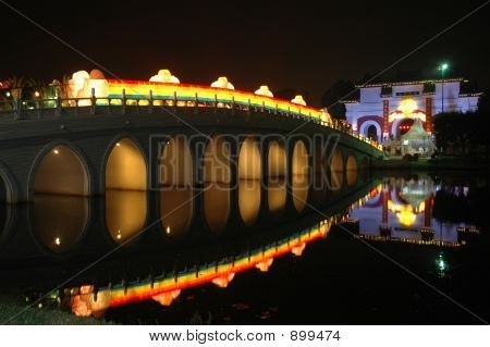 Singapore : Chinese Garden : Bridge Light Up