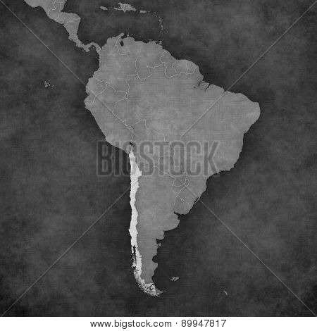 Map Of South America - Chile