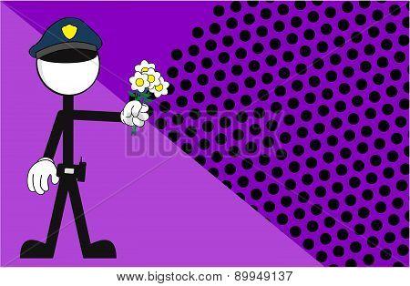 police man pictogram love background