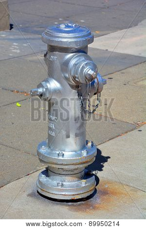 Silver Fire Hydrants
