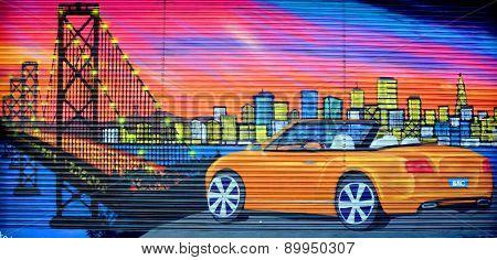 Mural sport car