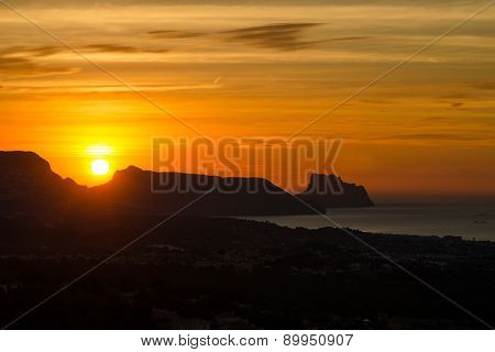 Sunrise Over Altea Bay