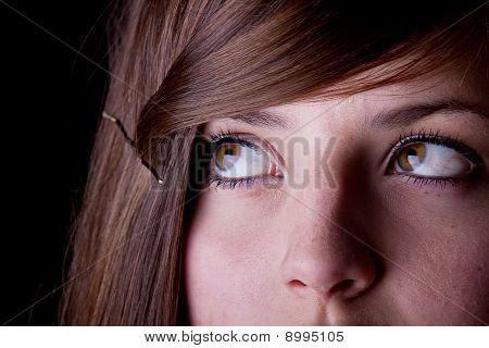Eyes of a teenage girl
