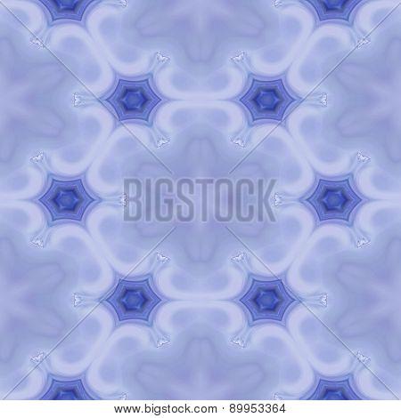 Seamless Kaleidoscope Texture Or Pattern In Blue 2
