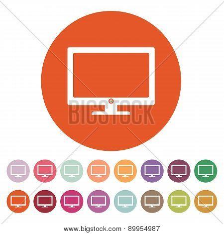 The Screen Icon. Monitor Symbol