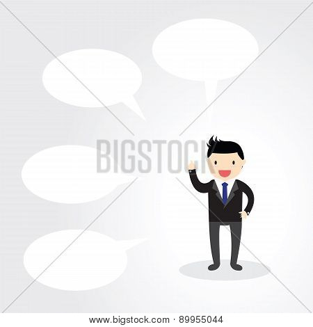 Businessman Speech Bubble Concept.