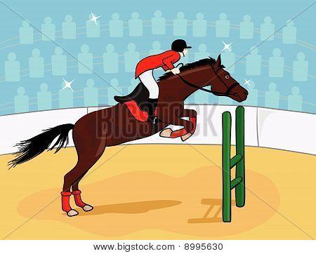 rider at jumping show