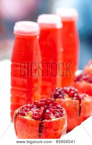 red pomegranate juice